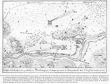 Croquis de las fortificaciones y suburvios de Monterrey con el ataque que dieron los estadounidenses los días 21, 22 y 23 de septiembre de 1846. (Croquis del s. XIX)